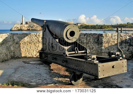Artillery of the time of the Spanish colony