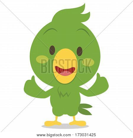 Cartoon parrot character vector illustration collection stock