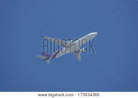 Hs-ten Airbus A330-300 Of Thaiairway. Tg303