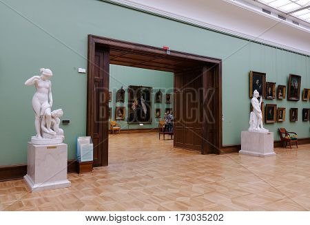 Inside Of Tretyakov State Gallery In Moscow, Russia