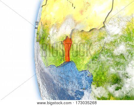 Benin On Model Of Earth