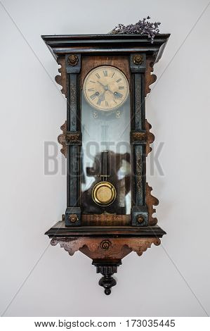 Antique Old Vintage Wooden Wall Clock
