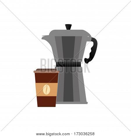 Coffee stainless kettle icon vector illustration graphic design