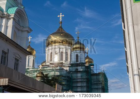 Reconstructed cathedral of the Nativity of the Blessed Virgin Mary in Rostov-on-Don, Russia