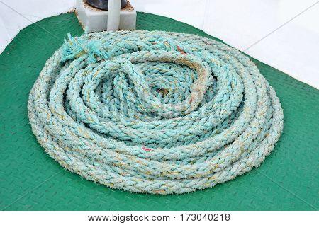 Mooring Rope On Deck