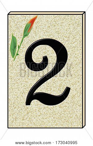 a graphic representing the number 2 street number