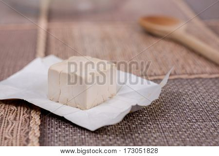 Piece Of Yeast On The Table