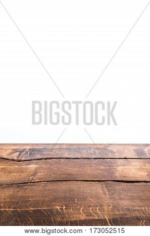 part of brown wooden background isolated on white