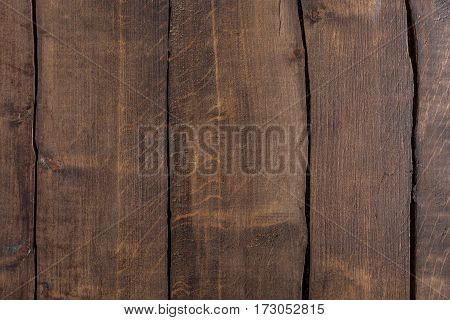 Brown rustic wooden background with vertical planks