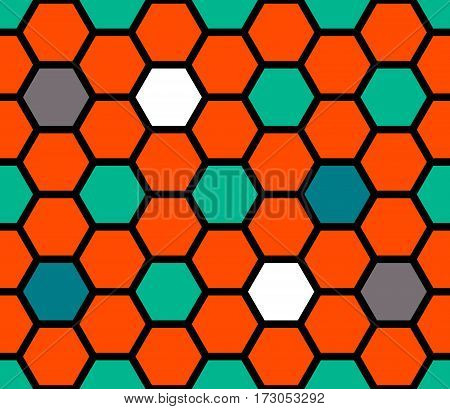 Colorful mosaic. Seamless pattern. Abstract background of cells. vector illustration.