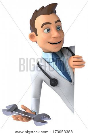 Fun doctor - 3D Illustration