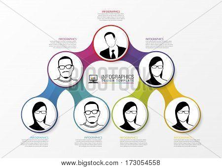 Modern organization chart template. Infographics. Vector illustration
