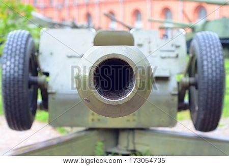 Fragment Artillery gun. Armed conflict. Era Cold War.