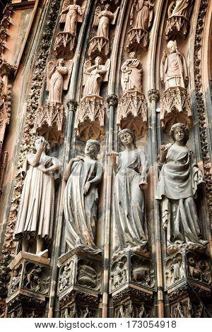 Cathedral in Strasbourg, Alsace, France.