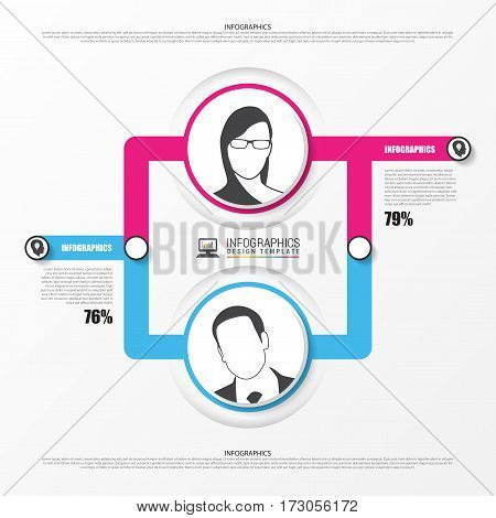 Organization chart. infographics design template. Vector illustration