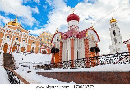Russian orthodox church. Iversky monastery in Samara Russia