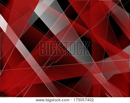 abstract background of red and white on a black background