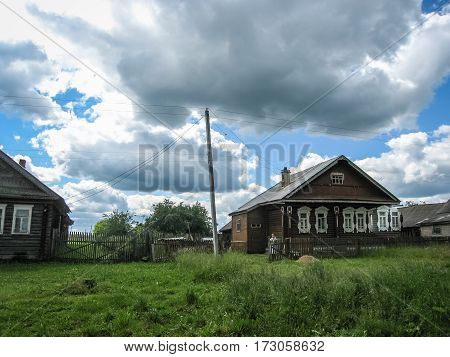 Landscape With Village House In Palekh, Vladimir Region, Russia