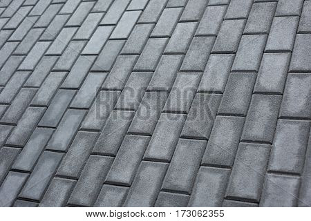 Patterned pavement background, full frame