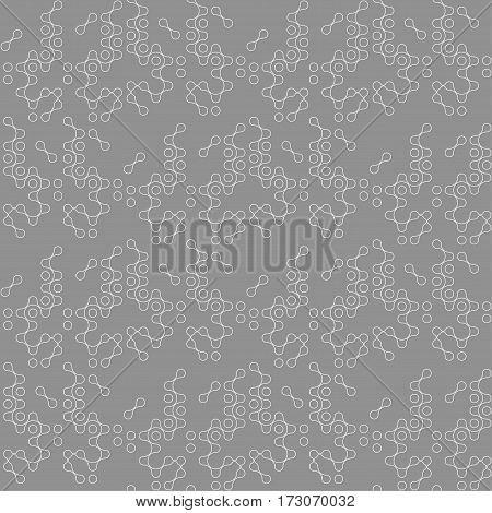 multicolor molecules seamless pattern vector eps10 for fabric, paper and web design