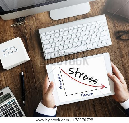 Stress trouble uneasy unhappy technology