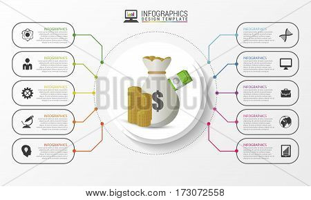 Infographic design concept. Business template. Vector illustration