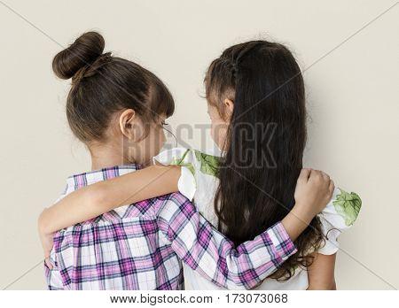 Girls Together Studio Portrait Concept