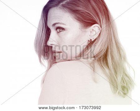 Woman Face Expression Portrait Studio