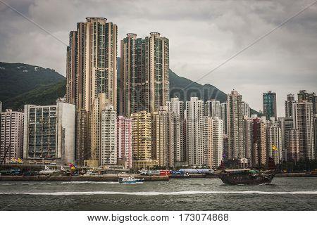 Sheung Wan District In Hong Kong