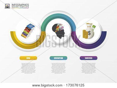 Infographic concept. Modern design template. Vector illustration