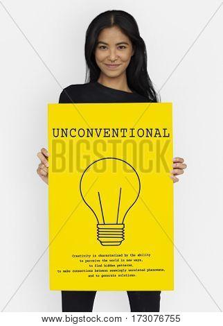 Bulb Sign Idea Symbol Word