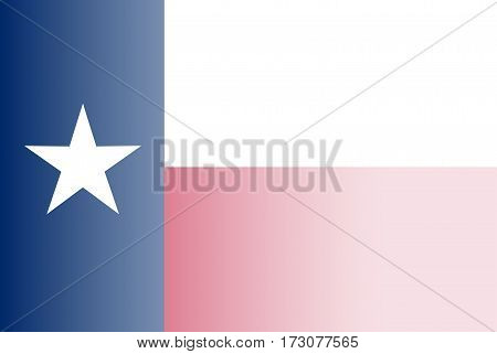The flag of the USA state of TEXAS faded