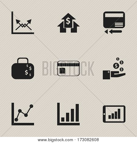Set Of 9 Editable Statistic Icons. Includes Symbols Such As Statistic, Profit, Bar Chart And More. Can Be Used For Web, Mobile, UI And Infographic Design.