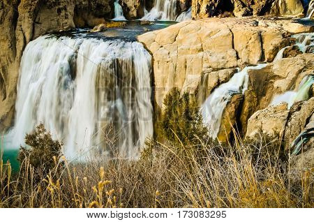 The Twin Falls at Shoshone National Forest