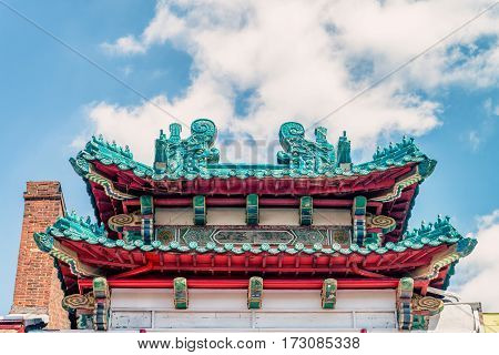 PHILADELPHIA, USA : Philadelphia Chinatown is a predominantly Asian American neighborhood in Center City, Philadelphia. The Chinatown Development Corporation supports the area.