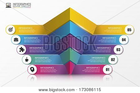 Pyramid. Infographic concept. Modern design template. Vector illustration