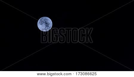 Full Moon With Clear Sky Image.