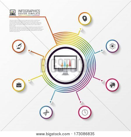 Infographic report concept. Modern business template. Vector illustration
