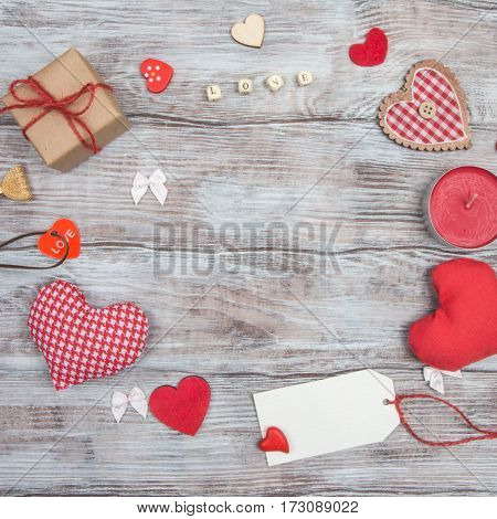 Love, Red Heart And Valentine's Day