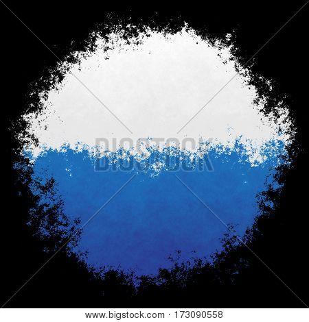 Color spray stylized flag of San Marino on black background
