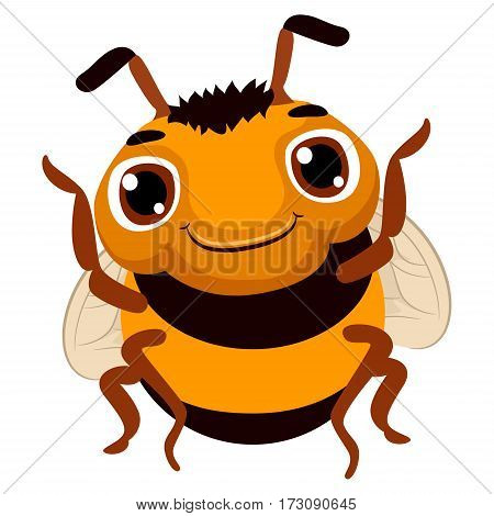 Vector Illustration of a cute cartoon Bee