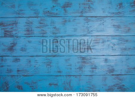 Wooden Blue Background With Scuffed