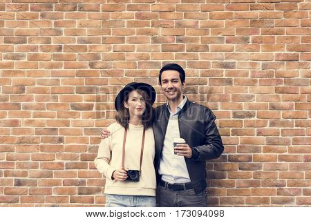 Couple Dating Happiness Traveling Together
