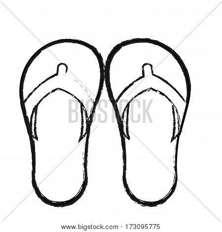 flip flops icon image vector illustration design
