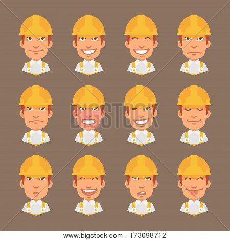 Vector Illustration, Set Emotions Builder, Format EPS 10
