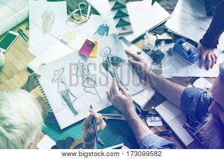 Fashion Designer Sketch Drawing Costume