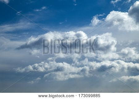 online translator bright blue sky with clouds and clouds
