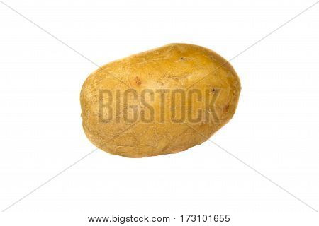One potato isolated on the white backgrond
