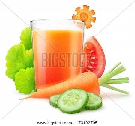 Isolated Vegetable Juice