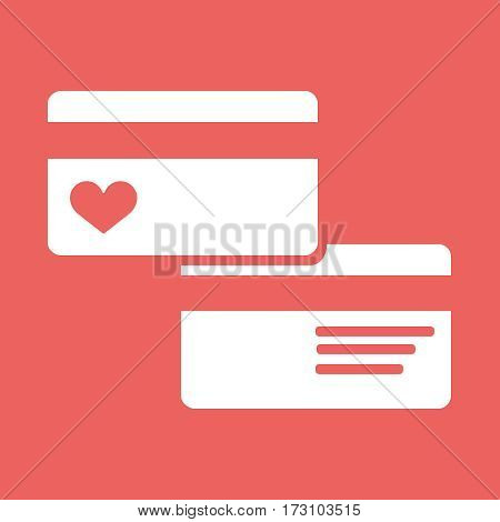 Credit Card pictograph passion icon Vector illustration style is flat